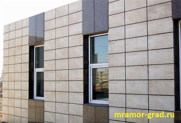 Ветфасад в Москве из фельзита для облицовки фасада 600 на 900 толщина 30 мм Вентилируемые фасады поставки с карьерав Армении Монтаж
